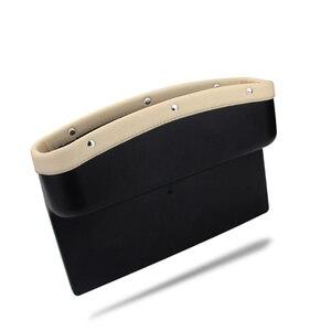 Image 5 - Органайзер для автомобильного сиденья, кожаный ящик для хранения автомобильного сиденья, консоль, боковой карман с нескользящим ковриком для сотового телефона, кошелек, карта для ключей от монет