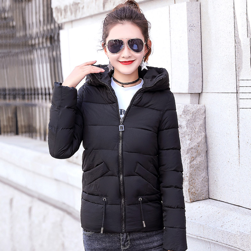 New Arrival Candy Color Women Winter   Jacket   2019 Hooded Padded Outwear Autumn Coat Short Jaqueta Feminina Casual   Basic     Jackets