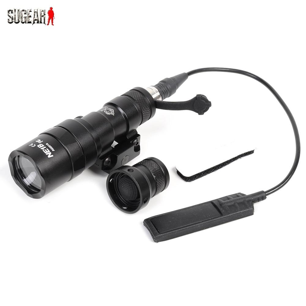 ФОТО Night Evolution Mode XP-E R2 LED M300B 230lm Mini Scout Flashlight Aluminum Construction Tactical Weapon Light For Rifle Handgun