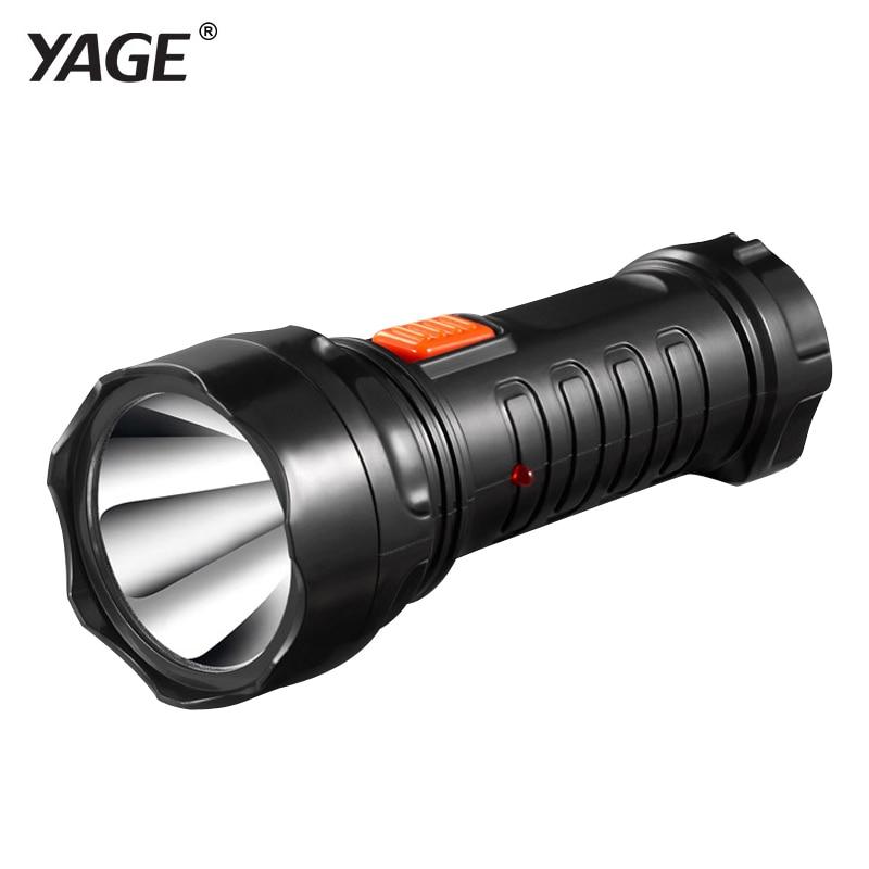 2016 tazer yage-3738 led lanterna tocha recarregável bateria embutida luz 2-mode lanterna linterna lampe torche