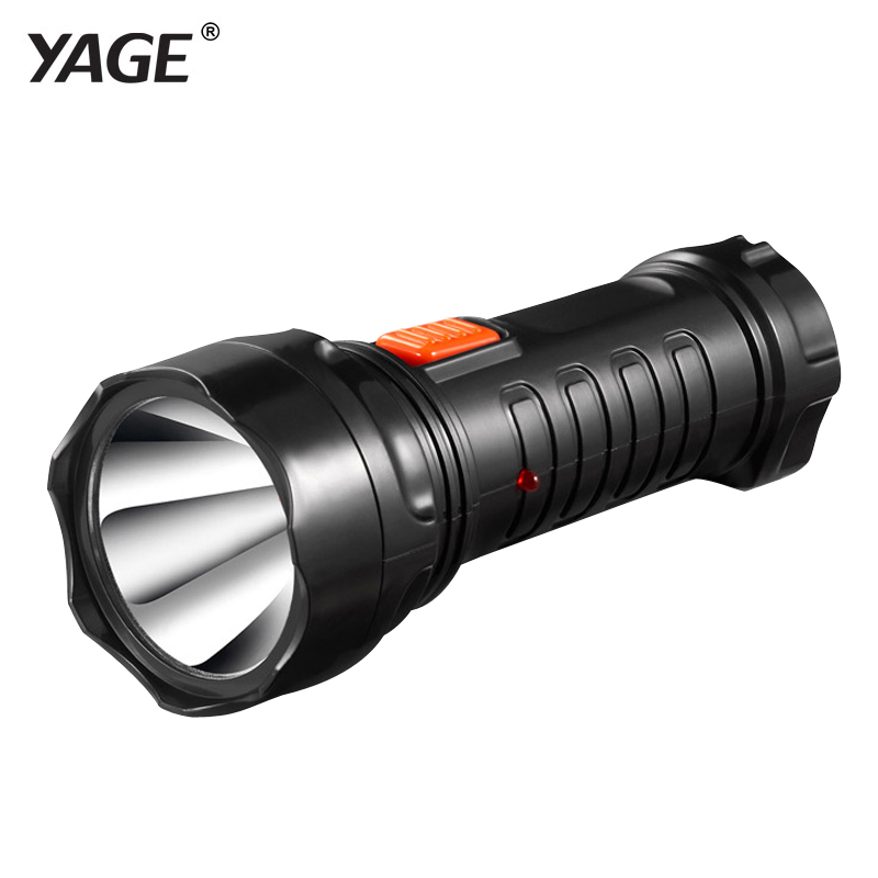 YAGE-3738 Led Senter Obor Isi Ulang Lampu Baterai Built-in 2-mode Lanterna Linterna Lampe Torche EU / USA / UK