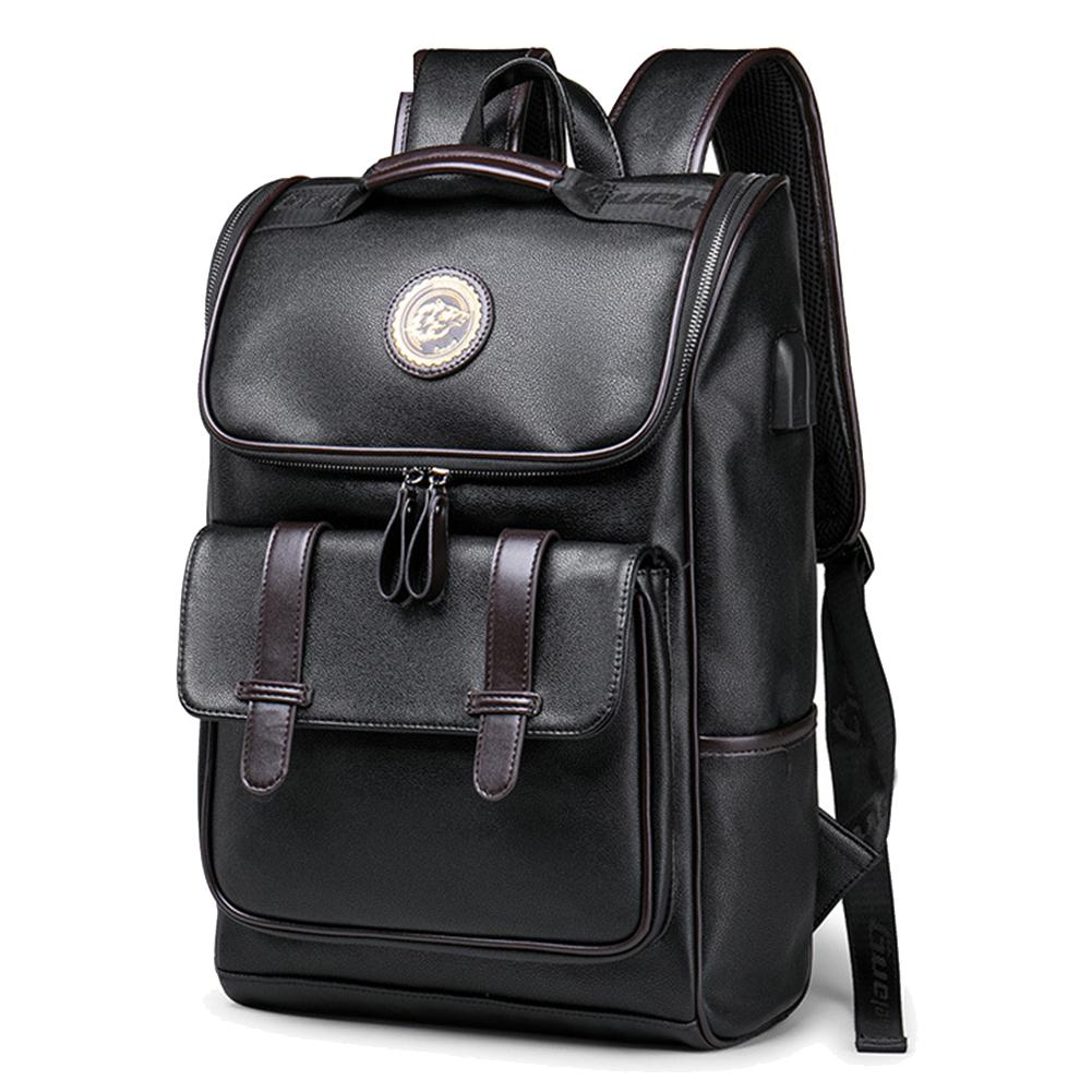 2019 Hot Fashion Men Faux Leather Casual Anti-Theft Travel School Zipper Backpack Bag 2019 Hot Fashion Men Faux Leather Casual Anti-Theft Travel School Zipper Backpack Bag