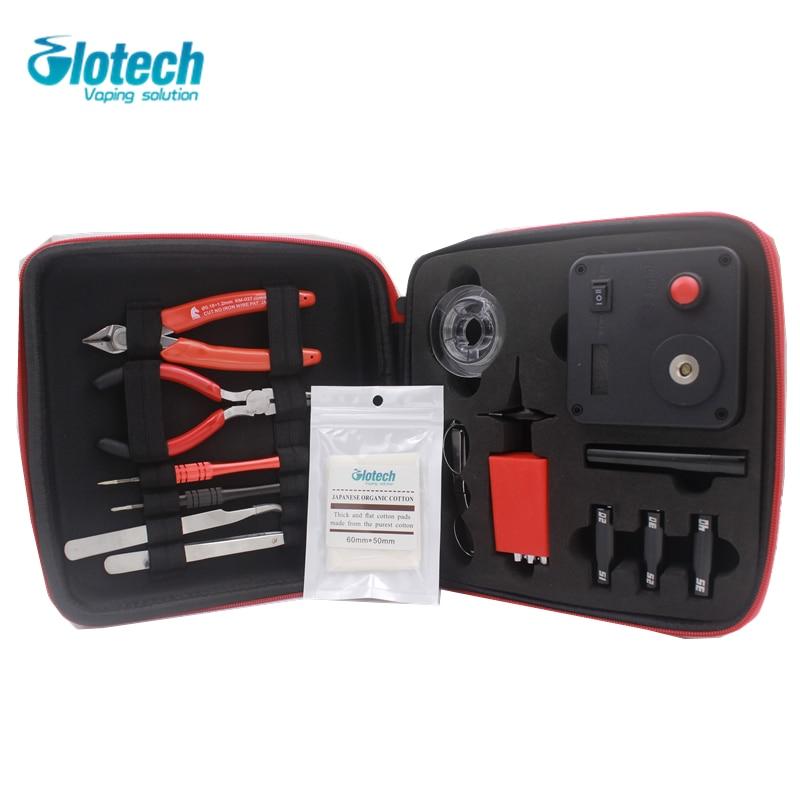 Glotech DIY Coil Vaping Tool Kits V3 For Rebuilding Coils With 521 Tab Mini OHM Meter DIY Toolset For RDA RBA Vape Coils Making