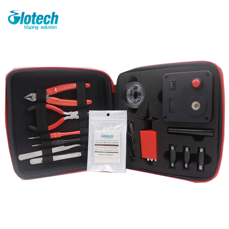 Kits d'outils de vapotage de bobine de bricolage Glotech V3 pour reconstruire des bobines avec 521 onglet Mini OHM mètre bricolage ensemble d'outils pour la fabrication de bobines de Vape RDA RBA