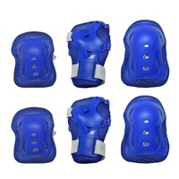 BMX Bicycle Push Scooter Skate Board Protective  Knee Elbow Wrist Pad Blue