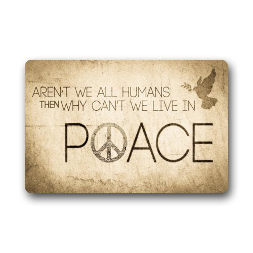 Vintage Peace Sign Art With Funny Saying Quotes Non Woven Fabric Door Mat Indoor