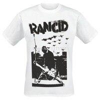 Free shipping Rancid Tim Live punk rock white 100% cotton new T Shirt