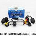 Câmera De Estacionamento Para KIA Rio (QB)/K2 Sedan 2011 ~ 2016/RCA AUX Fio Ou Sem Fio Retrovisor Camera/CCD HD Câmera de Visão Noturna