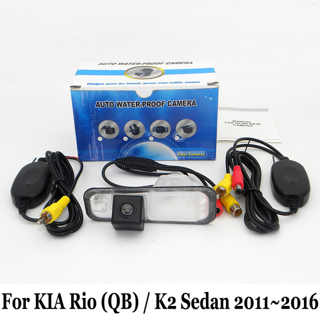 Car Parking Camera For KIA Rio (QB) / K2 Sedan 2011~2016 / RCA AUX Wire Or Wireless Rearview Camera / HD CCD Night Vision Camera
