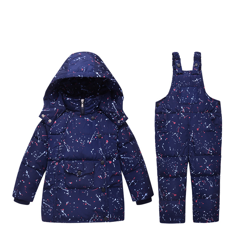 Warm Baby boys clothing sets Winter Russia baby Girl Ski suit child Outdoor clothes kids down coats Jackets+trousers/Jumpsuit 2016 winter boys ski suit set children s snowsuit for baby girl snow overalls ntural fur down jackets trousers clothing sets