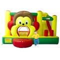 Yard macaco casa bounce slide combo com ventilador de aro de basquetebol crianças pulando parque oferta especial para a zona quente