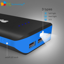 18650 Power Bank USB Charger Battery Pack 20000mah External Battery Pack EC Technology PowerBank for Mobile Phones