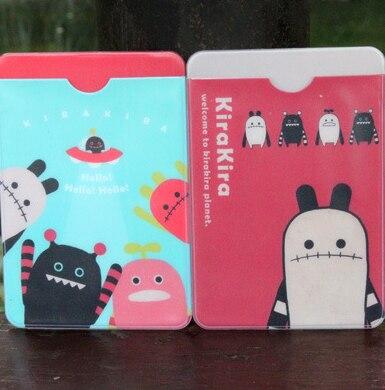 1PCS/LOT Freeshipping cute design cartoon card bag bus card double deck card case fashion gift
