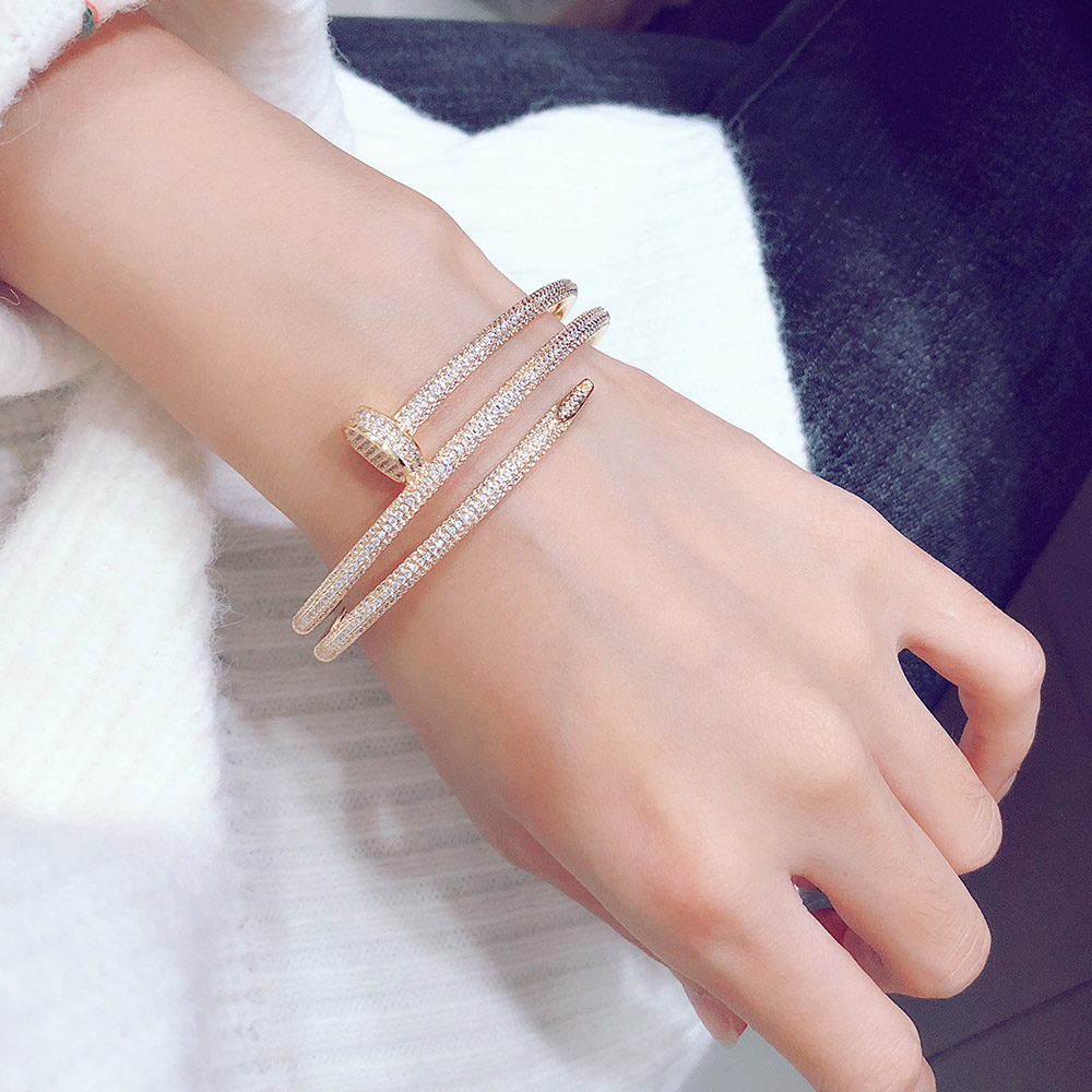 S925 Silver Nail Bracelet Modern stylish French quality Luxurious bracelet and bracelet for nobles Personality Party