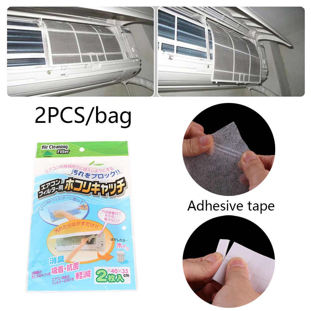 2 stks/set Praktische Auto Lijm Anti-dust Schaalbare Airconditioning Filter Mesh Doek Reiniging Auto AC Systeem