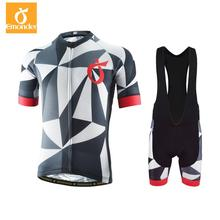 EMONDER Men Cycling Sets Pro Team Jersey + Bib Shorts High Quality Pro Wear Bicycle Jersey Sets Cycling Clothing Ropa Ciclismo