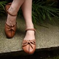 2016 new arrival sweet bowtie shallow mouth geunine leather women sandals casual tassel flat women shoes 182-3