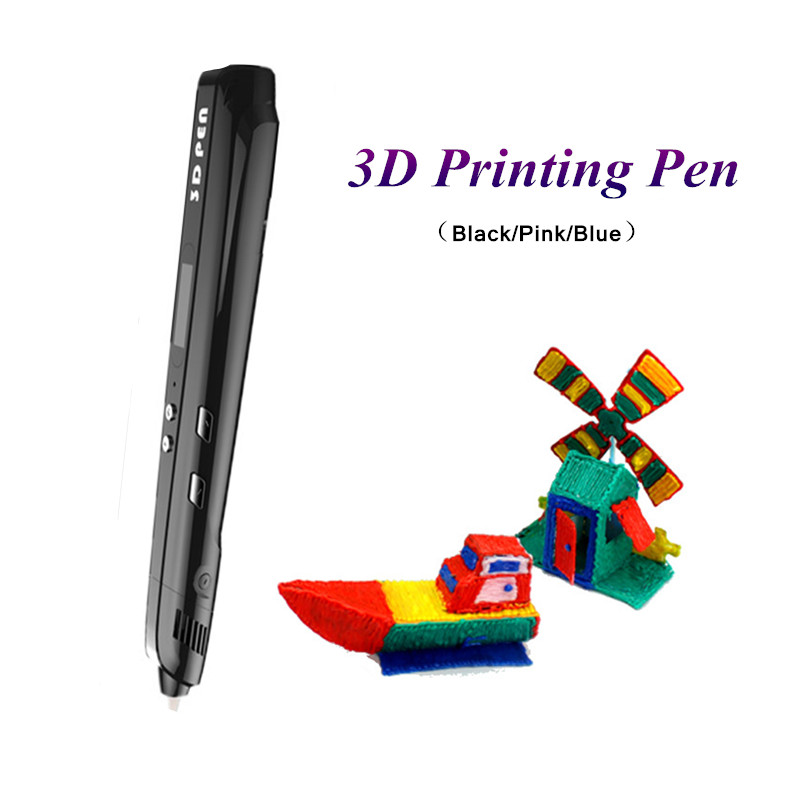 цена Sixth Generation 3D Pen 3Color 3D Drawing Pen With Free PLA/PCL Filament 3D Printing Pens For Kids Birthday Gift 3D Doodle Pens