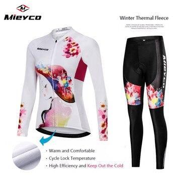 Conjunto de Ropa de Ciclismo para Mujer, Ropa térmica de lana para...