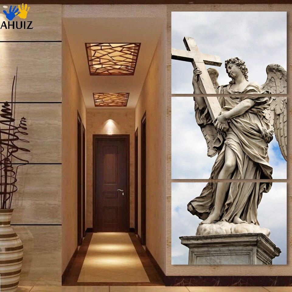Большой современный 3 шт крест религиозных холст стены арт пос картина на стене только холст для гостиной Бесплатная доставка fx042 ...
