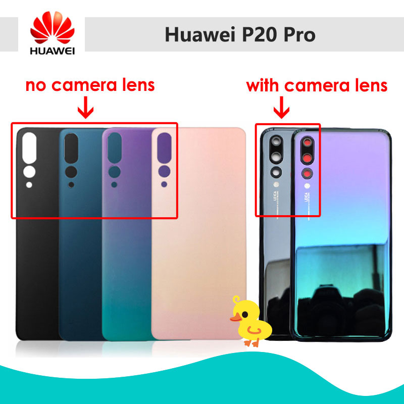 Original For HUAWEI P20 Pro Door Rear Housing Cover P20 Pro Glass Back Battery Cover Case Replacement For Huawei P 20 Pro