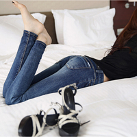 2015 New Fashion Sexy Pencil Pants Slim Fit Jeans Woman Fall Winter Plus Velvet Skinny Trousers