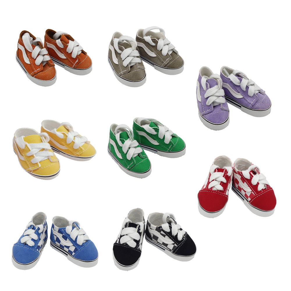Fashion Doll Shoes 5.5*2.8cm Mini Toy Shoes For 20cm EXO Dolls Fit 14.5Inch Baby Girl Doll BJD Doll Accessories Toys
