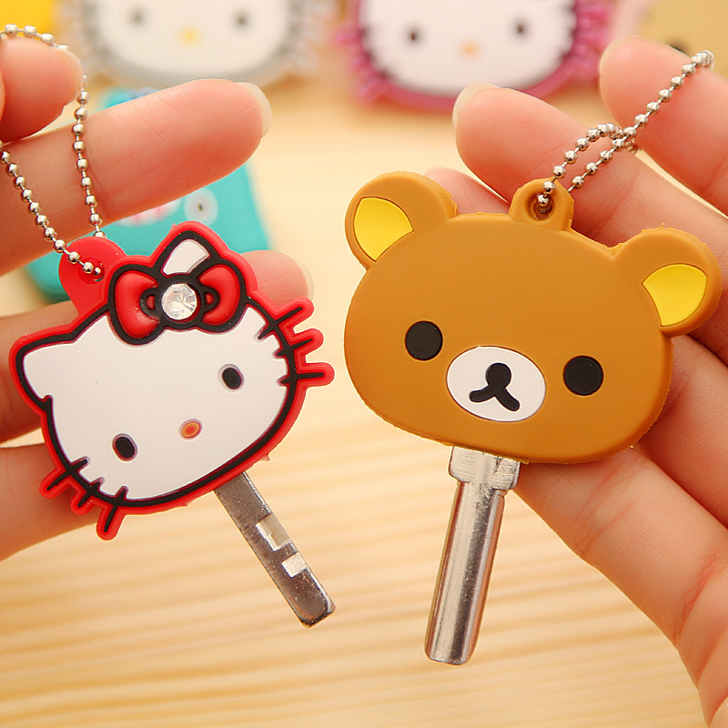 Retired Gacha Tomy Hello Kitty Crystal Charms Complete set of 6 Keychain NEW