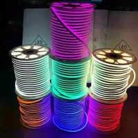 A barra macia flexível impermeável da tira ilumina 3-6leds cuttable 1m 5m 20m 50m 2835 m a luz smd 120 da corda de néon do diodo emissor de luz da c.c. 12 v 24 v 100 leds/m
