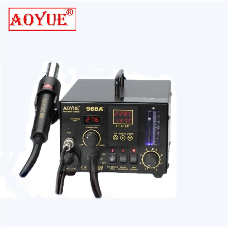 550W Solder Station AOYUE968A Repairing System SMD Soldering Iron Double digital system hot air gun station