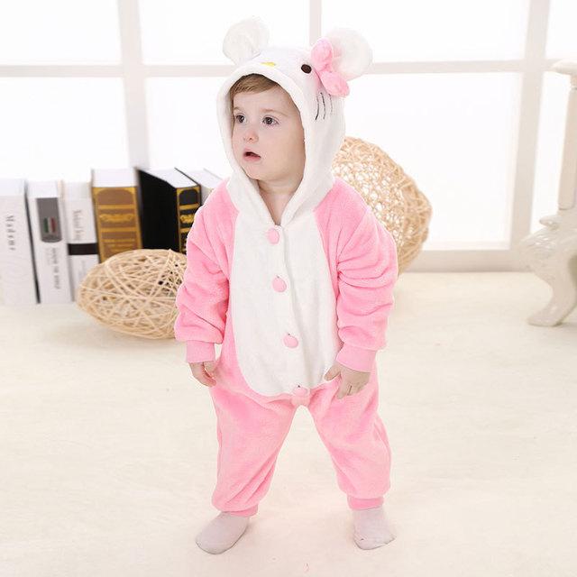 Alta calidad de la marca Animal de la historieta de Superman tigre conejo del bebé del diseño con capucha Pijamas Pijamas ropa de dormir Pijamas onesie para infantil