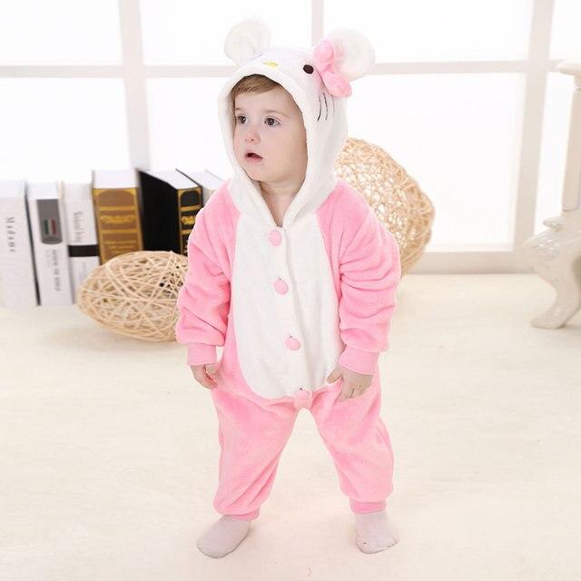 High Quality Brand Animal Cartoon Superman Rabbit Tiger Design Baby Hooded Pajamas Pyjamas Sleepwear Pijamas onesie For Infant