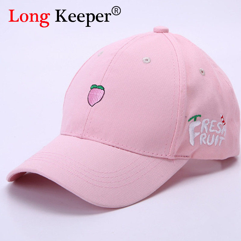 Ladies 'Cute Baseball Cap Våren Cotton Caps för kvinnor Tillfällig frukt fisk Pattern Hat Fashion Snapback gorras beisbol B063