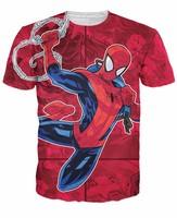 Mujeres Hombres tops The Amazing Spiderman T-Shirt Camisa de la Historieta Del Hombre Araña el cómic de Marvel Camisetas
