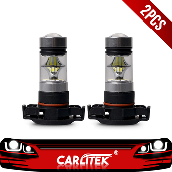 CARLitek 2 uds PSX24W bombilla antiniebla H16 luz Led para coche 8000K 6000K 100W Kit de bombillas Led para faros delanteros de coche 12V 24V