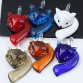 Smart Clever Fox Lampwork Glass Pendant Bead Animal Murano For SP Necklace Cute 7mm Hole