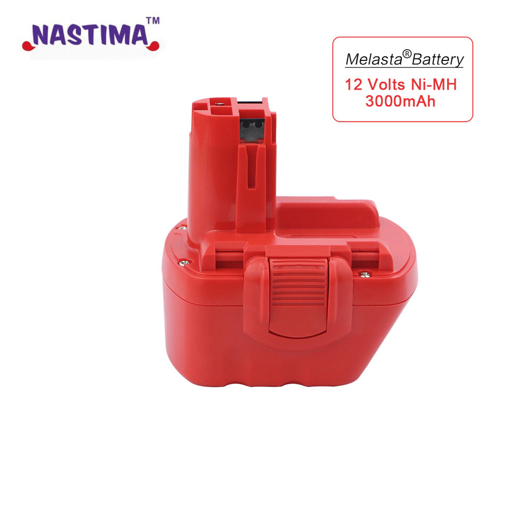 Melasta 12V 3000mAh Ni-MH Rechargeable Battery for Bosch Cordless Power Tool Battery BAT043 BAT045 BAT049 2 607 335 273 BAT120 new 24v ni mh 3 0ah replacement rechargeable power tool battery for bosch bat299 bat240 2 607 335 637 bat030 bat031 gkg24v