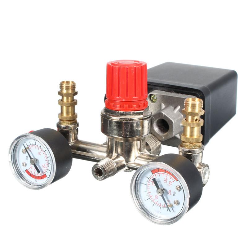 2 phase Air Compressor Pressure Control Switch Valve 125psi 12 Bar 16A 230V 1 Port Popular air compressor pressure valve switch manifold relief regulator gauges 7 25 125 psi 240v 15a popular