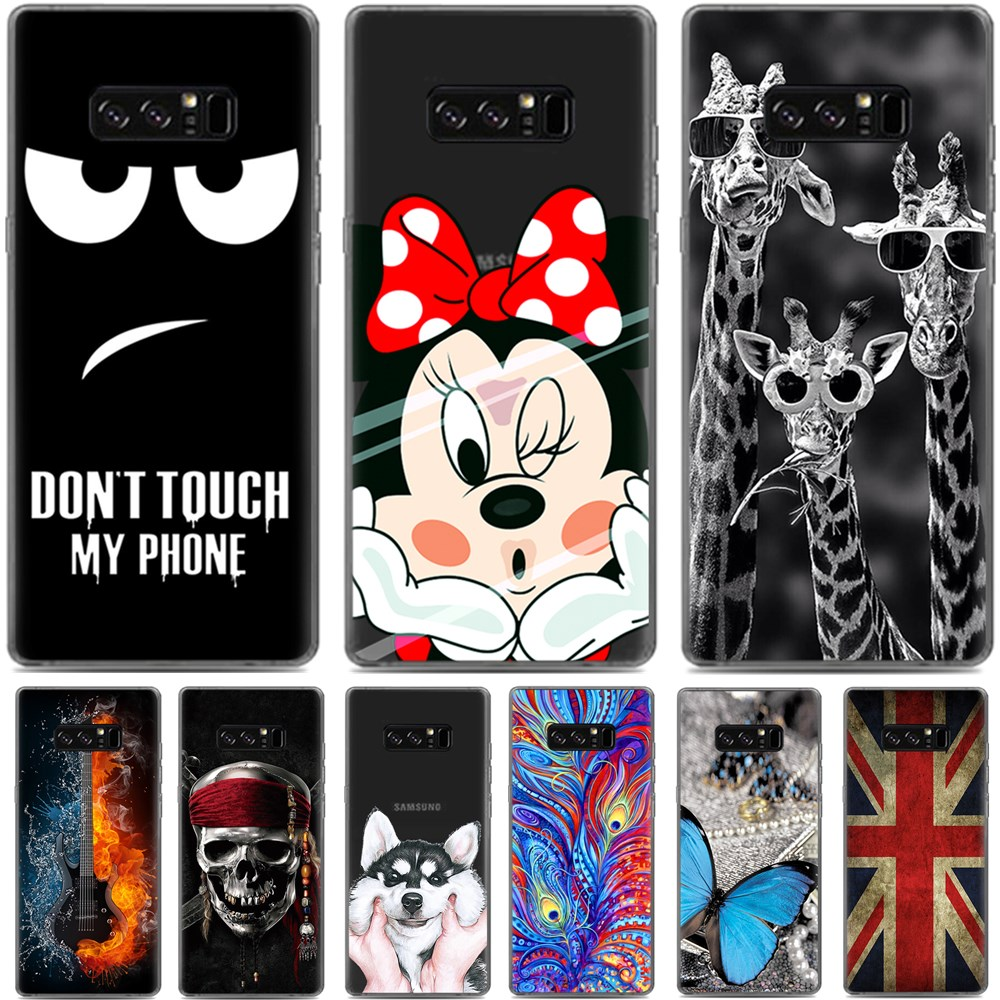 Cool design soft tpu case for samsung note 8 soft silicone for Design a case