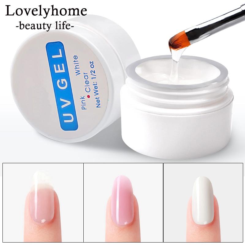 Nail Extension Gel 3 colors Poly Gel Builder Gel For Nails Finger Extensions Form Tips UV Gel Polish Art Varnish Kits Sticker(China)