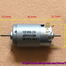 a393a57fce6 Brand Johnson 395 DC motor double output shaft high speed 12V 18V 11700rpm  for robots