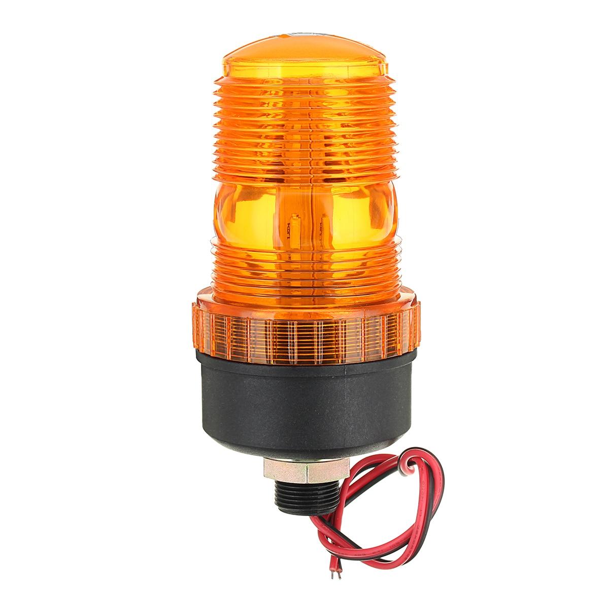 12V 24V LED Rotating Flashing Amber Beacon Flexible Strobe Tractor Warning Light Traffic Light Roadway Safety