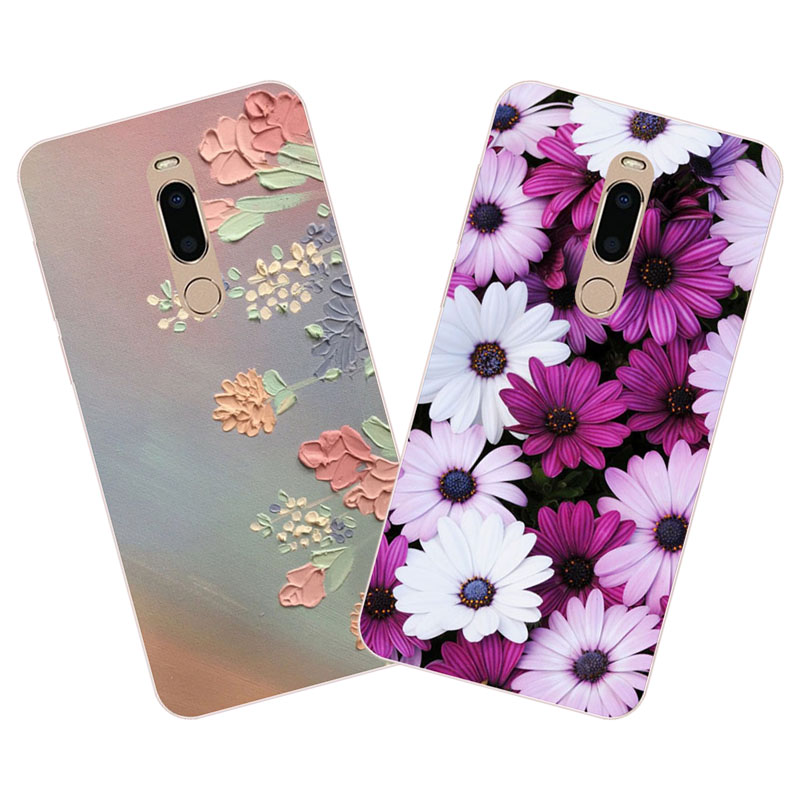 meizu m6t Case,Silicon Colorful flowers Painting Soft TPU Back Cover for meizu m6t protect cases shell