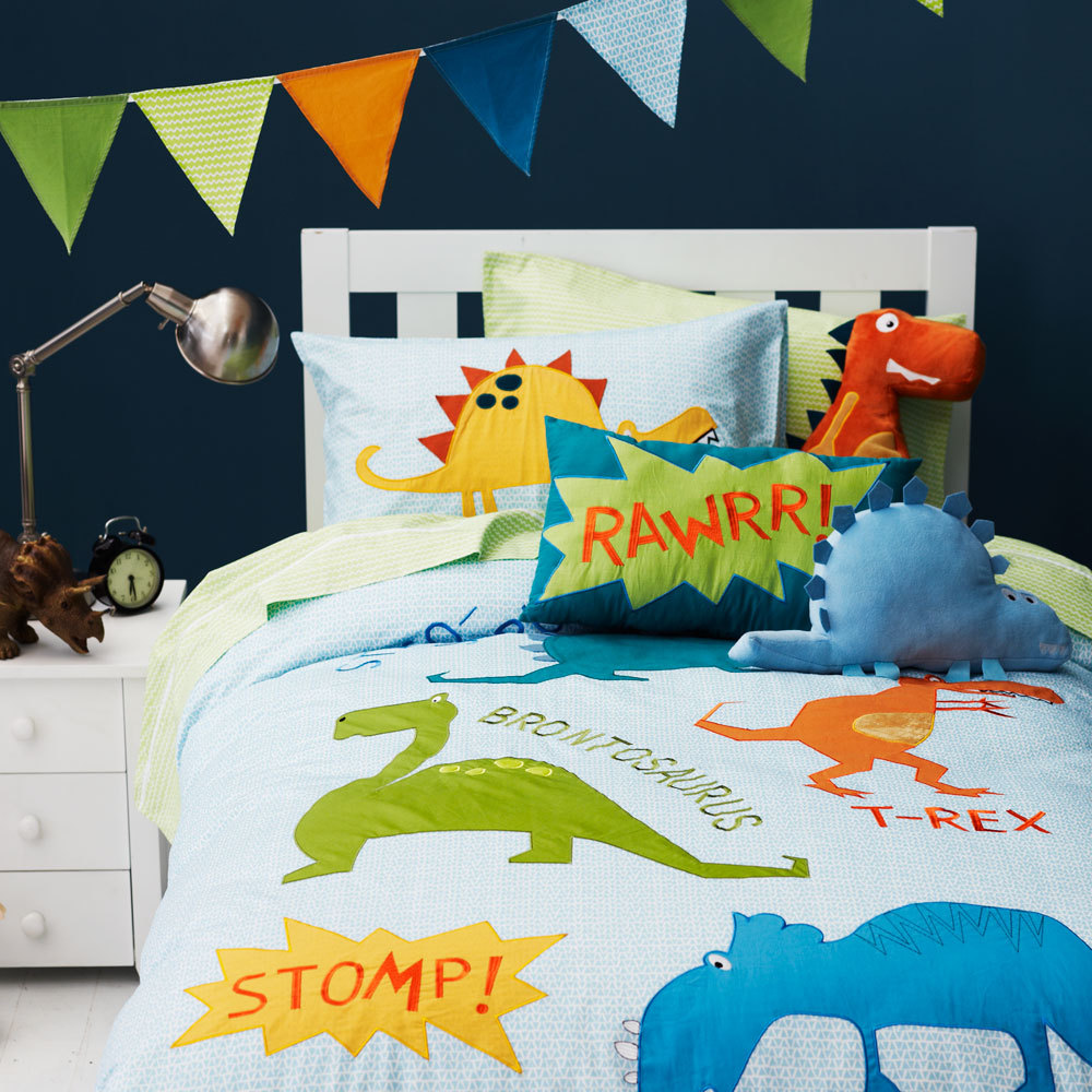 Incroyable Free Shipping Dinosaur Bedding Set Children Cartoon Dinosaur Patchwork  Applique Embroidery Bedclothes Without Filler In Bedding Sets From Home U0026  Garden On ...