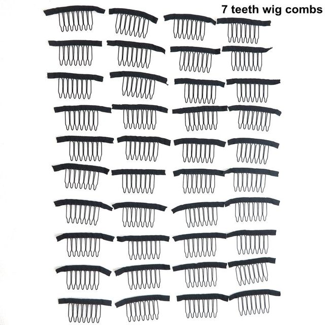 Harmony Hot Selling 40 Pieces 7 Teeth Durable Black Snap Comb Clips