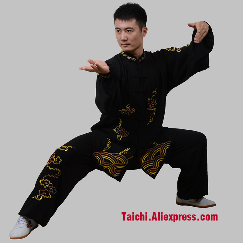 tai chi clothing clothes embroidery clothing   boundless and the sea Taijiquan custom-made clothes note your height and weight tai chi clothing cotton clothes and costumes multicolor optional morning suit of taijiquan for men and women section