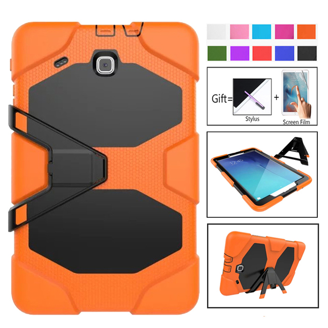 Para samsung galaxy tab e 9.6 ttablet t560 t561 tablet à prova de choque caso duro militar resistente silicone robusto suporte capa protetora