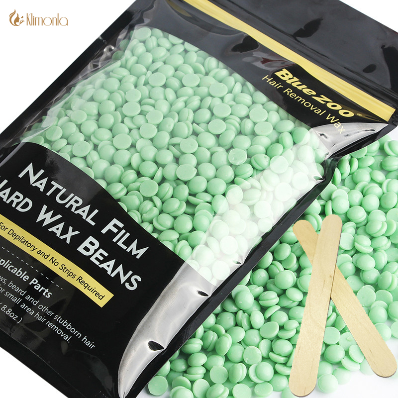 Depilation Wax Hair Removal Hard Wax Beans Bikini Armpit Leg Arm Hair Removal Heat Wax For Women Body No Strip Tea Tree 250g