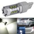 1 PC de Alta Potência 80 W T20 7443 7440 Lâmpadas LED Para Carro Luzes Inversas Backup Signal DRL Luzes DC12V-24V branco