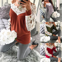 2017 New Casual Fashion Long Sleeve T Shirts For Women Tops S Autumn V Neck Hollow